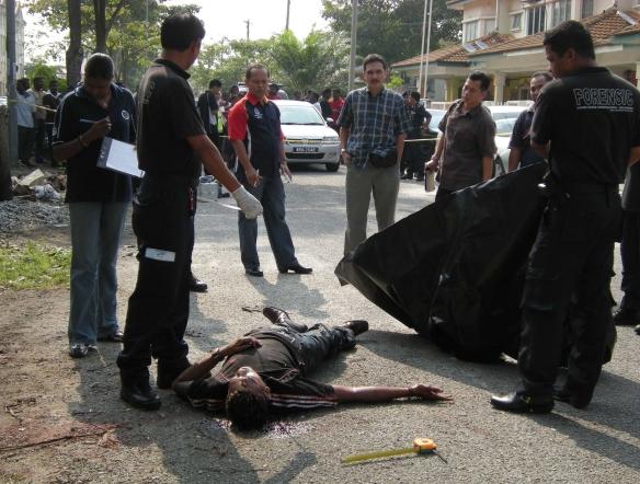 mayat mangsa