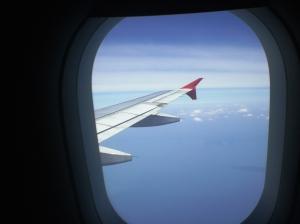 Pesawat y menerbangkan kami