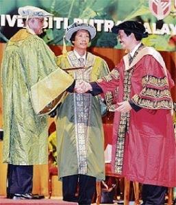 Prof Emeritus Datuk Ir Dr Mohd Zohadie Badaie ketika konvokesyen.