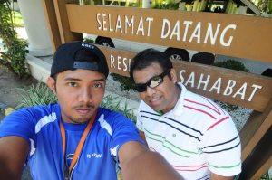 Aku bersama Wan ketika di Lahad Datu
