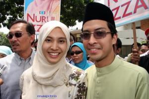 Nurul Izzah dan Raja Ahmad Syahrir.