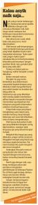 Sinar Harian Utara - 20 Januari 2013