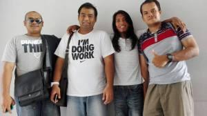 Dari kiri: Sufi, Aku, Jan dan Shahril...